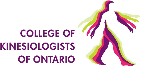 College of Kinesiologists of Ontario Logo